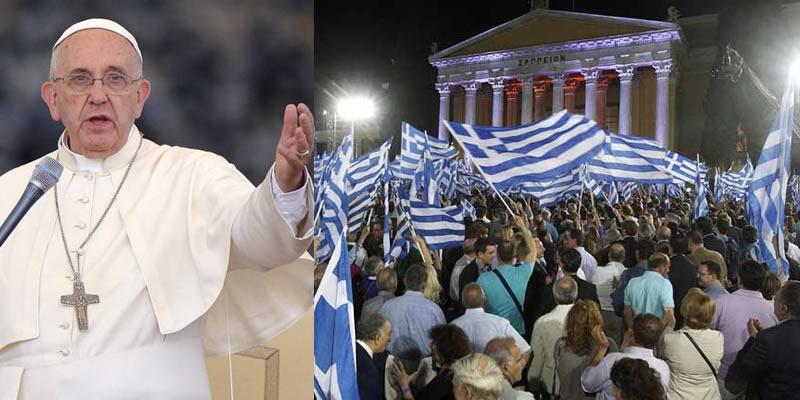 Resultado de imagen para papa francesco y grecia