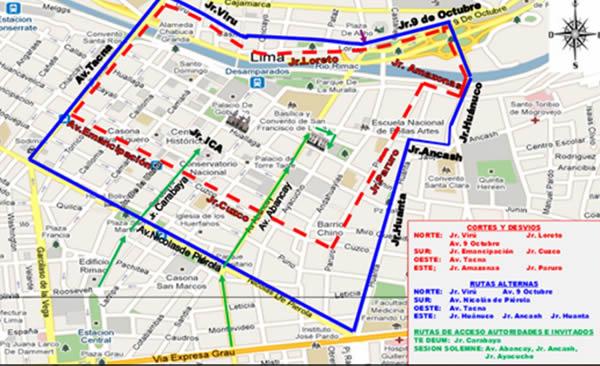 Fiestas Patrias: conozca las rutas alternas por restricción de tránsito