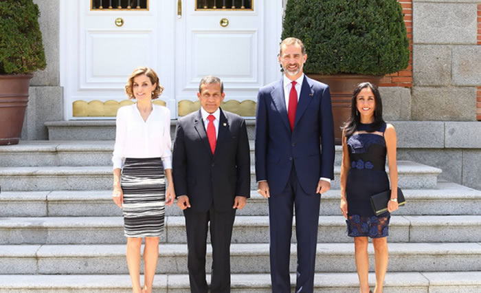 Ollanta Humala se reunió con rey Felipe VI en Madrid