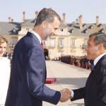 Reyes de España dan bienvenida al presidente Ollanta Humala