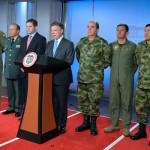 Colombia: Santos cambió a los 3 jefes de las Fuerzas Armadas