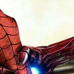 Iron Man y Capitán América pelean por Spiderman (Fanart)