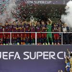 Barcelona: así celebró su quinta Supercopa de Europa (FOTOS)