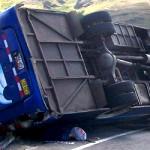 8 muertos y 28 heridos dejó volcadura de bus en Puno