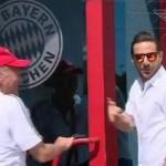 Claudio Pizarro fue bien recibido en su visita al Bayern Múnich