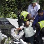 Colombia: 13 heridos al volcar bus de la comitiva de Santos (FOTOS)