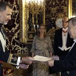Embajador de Perú en España presenta cartas credenciales al Rey Felipe VI