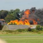 Inglaterra: se estrella avión de combate que intervenía en exhibición