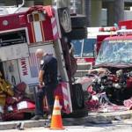 EEUU: violento choque de unidades de bomberos deja 10 heridos