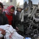 Siria: bombardero se estrella en mercado y deja más de 30 muertos