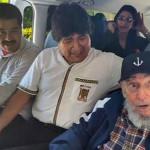 Cuba: Fidel Castro reapareció en público con Maduro y Morales (FOTOS)