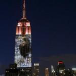 EEUU: proyectan imagen del león Cecil en rascacielos Empire State