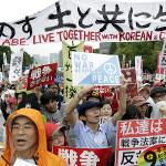 120.000 japoneses protestan por reforma de seguridad