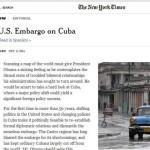 EEUU: New York Times pide al Congreso poner fin al embargo a Cuba