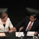Peña y Bachelet abogan por libre comercio ante crisis mundial