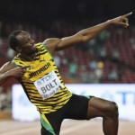 Usain Bolt triplete y récord en mundial de atletismo
