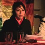 Hija de Evo Morales convoca plantón en apoyo a estudiantes mexicanos