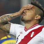 Juan Vargas no jugará ante Colombia y Chile por lesión