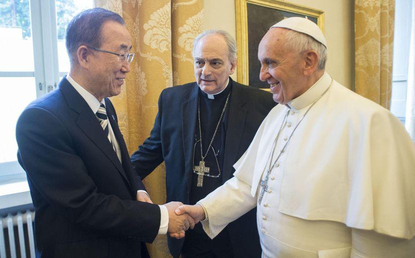 Papa Francisco y Ban Ki Moon