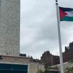 Bandera de Palestina es izada por primera vez en sede de la ONU