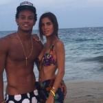 Sporting de Lisboa: André Carrillo es consolado por Suhaila Jad