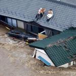 Japón: más de 100 mil evacuados por furia del tifón Etau (VIDEO)