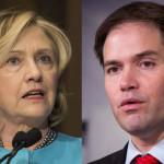 Puerto Rico: Clinton y Rubio viajan para recaudar fondos de campañas
