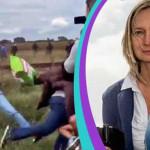 Hungría: enjuiciarán a camarógrafa que pateó a refugiados