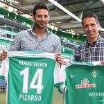 Claudio Pizarro firma por un año con el Werder Bremen de Alemania
