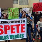 Vecinos de Magdalena protestan contra Allison por tala de árboles