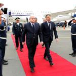 Primer ministro italiano Matteo Renzi llega a Perú
