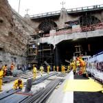 Con vaciado de concreto inician construcción de piso debajo del puente Trujillo
