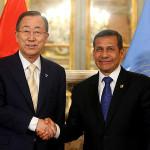 Ban Ki-moon y Ollanta Humala analizarán Objetivos de Desarrollo Sostenible