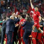 Turquía gana en minuto 89 y todo el país es un carnaval