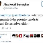 Alex Kouri lanza amenaza a exprocurador Julio Arbizu