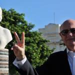 Cuba: canciller argentino inaugura busto de Eva Perón en La Habana