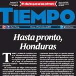 Tiempo: Cierra diario hondureño de empresa acusada de lavar dinero