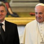 El Papa aborda con presidente macedonio asistencia a refugiados