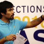 Manny Pacquiao presenta su candidatura al Senado de Filipinas