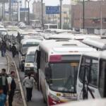 Caos en el Centro de Lima por marcha de transportistas