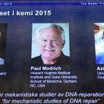 Premio Nobel de Química para científicos por reparación del ADN