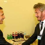 Presidente Humala y Sean Penn tuvieron un breve encuentro