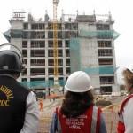 Sunafil fiscaliza obra de construcción civil en Los Olivos