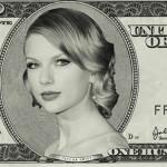 Taylor Swift gana casi un millón de dólares diarios