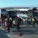 Ica: Seis fallecidos deja choque de buses en la Panamericana Sur