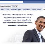 Barack Obama abre página personal en Facebook