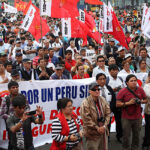 Gremios sindicales marchan por la paz y seguridad ciudadana