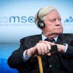 Alemania: Muere el excanciller Helmut Schmidt a los 96 años