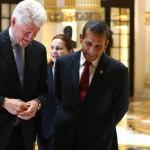 Ollanta Humala se reunió con Bill Clinton en Palacio de Gobierno