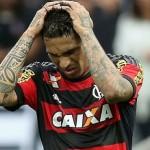 Paolo Guerrero expulsado en derrota de Flamengo ante Gremio